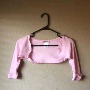 Youngland Pink Long Sleeve Cropped Cardigan Sz5